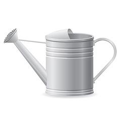 metal watering can vector image vector image