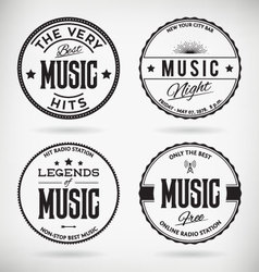 Music Badges vector image vector image