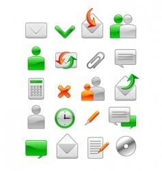 office web icon vector image vector image