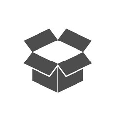 open box icon vector image