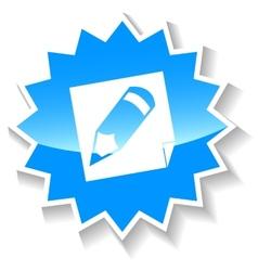 Pencil blue icon vector image vector image