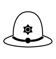 Police officer hat london related icon imag vector
