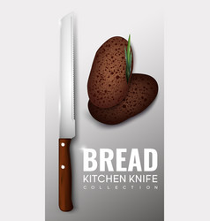 realistic kitchen knife concept vector image