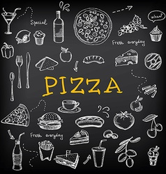 Restaurant cafe pizza menu template design vector