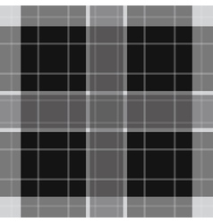 Seamless white black tartan with stripes vector