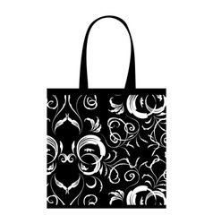 Shopping bag design floral ornament vector