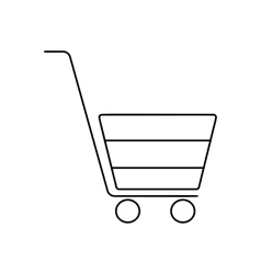 Shopping cart line icon vector