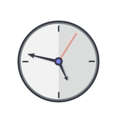 Time and clock icon office interior design vector