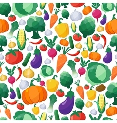 Vegetables Seamless Pattern Background in vector image vector image
