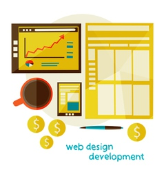 web design development vector image