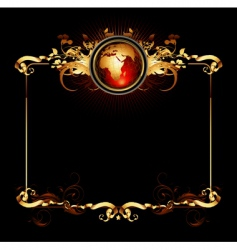world frame vector image vector image