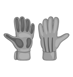 Football goalkeeper gloves icon vector