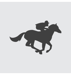 Horse ricing icon vector