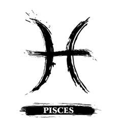 Pisces symbol vector image