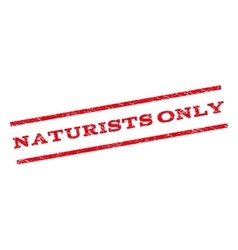 Naturists only watermark stamp vector