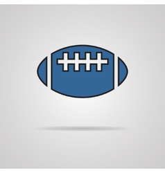 American football - rugby ball icon vector
