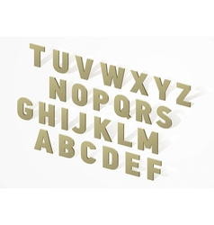 3D font alphabet vector image