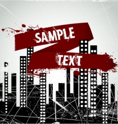 city frame vector image