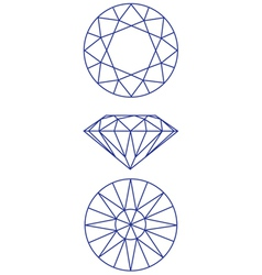 diamond scheme vector image