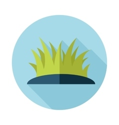 Grass flat icon with long shadow vector
