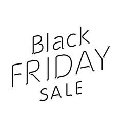 Elegant words black friday wear sale tags isolated vector