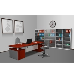 Realistic office interior vector