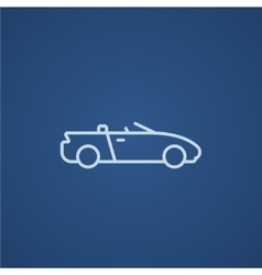 Convertible car line icon vector