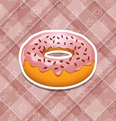 Realistic donut icons vector