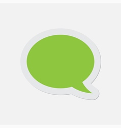 Simple green icon - speech bubble vector