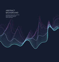 abstract background with a dynamic waves and vector image