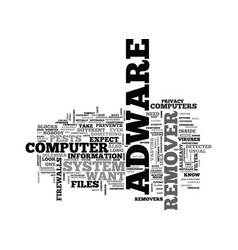 Adware remover text word cloud concept vector