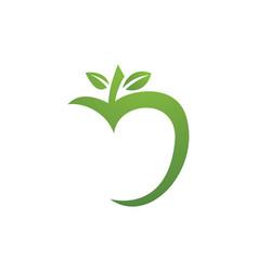 apple logo vector image vector image