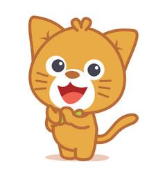 Art of cat character vector