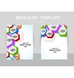 Back and front flyer template design vector