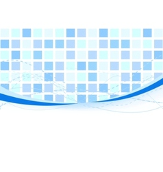 background - blue tiles vector image