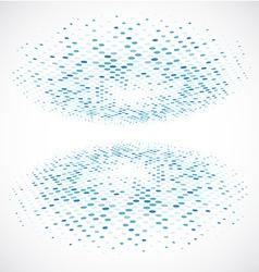 Blue Halftone circle vector image vector image
