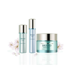 Body care set realistic mock up hydration vector