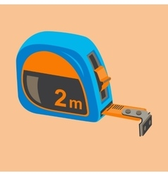 Building compact measuring tape vector