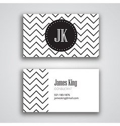 Business Card Template Chevron vector image