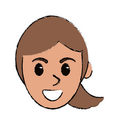 cartoon face female comic image vector image vector image