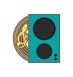 Cartoon speaker baffle audio music vector
