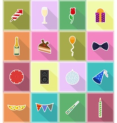 celebration flat icons 18 vector image vector image
