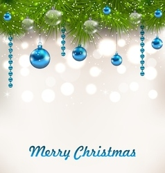 Christmas shimmering background with fir twigs and vector