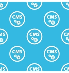 Cms settings sign blue pattern vector