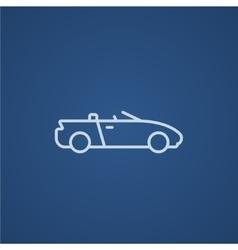 Convertible car line icon vector image vector image