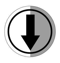 Download arrow inside button design vector image vector image