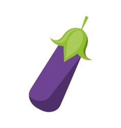 eggplant vegetable healthy nutrition icon vector image