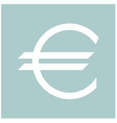 Euro symbol the white color icon vector