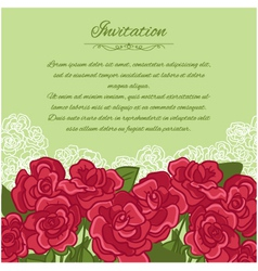 Floral background with red roses vector image