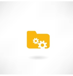 folder icon with cogs vector image